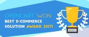 To OpenCart κέρδισε το βραβείο Best E-commerce Solution Award 2017