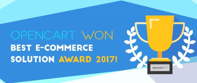 To OpenCart κέρδισε το βραβείο Best E-commerce Solution Award 2017