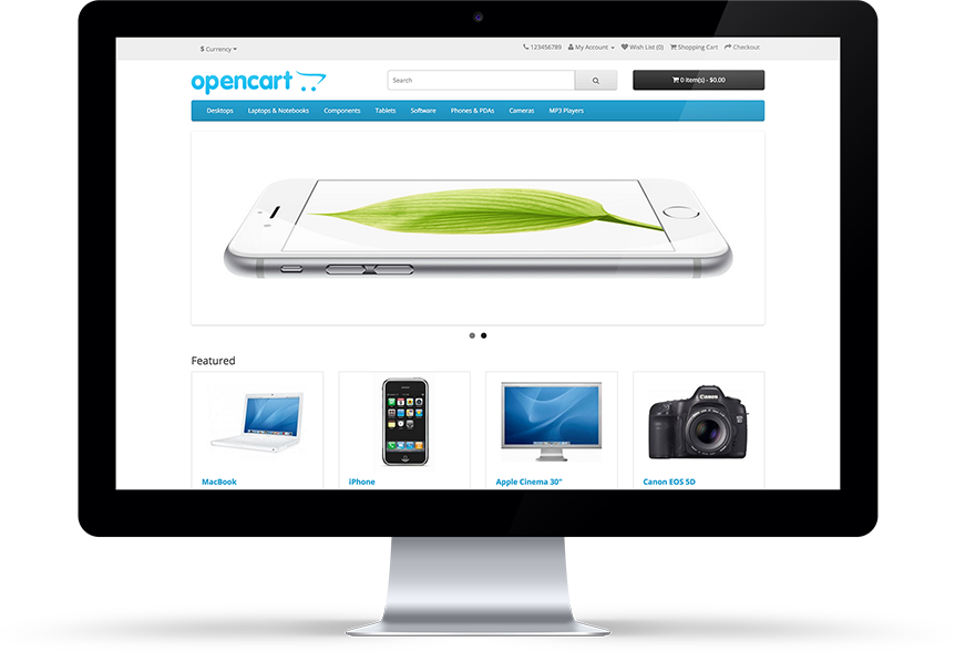 OpenCart-store-front
